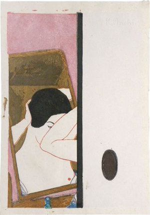 恩地孝四郎: Mirror (Kagami) - Scholten Japanese Art