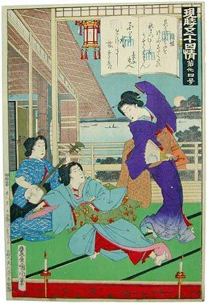 豊原国周: Chapter 24: Butterflies - Scholten Japanese Art