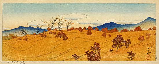 川瀬巴水: Arauji in Shiobara (Shiobara no Arauji) - Scholten Japanese Art