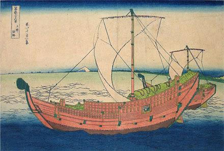 Katsushika Hokusai: Thirty-Six Views of Mt. Fuji: At Sea off Kazusa (Fugaku sanju-rokkei: At Sea off Kazusa) - Scholten Japanese Art