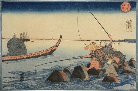 歌川国芳: Famous Places in the Eastern Capitol: Fishermen at Teppozu (Toto Meisho: Teppozu) - Scholten Japanese Art