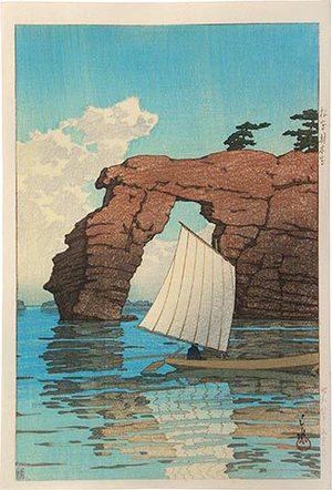 川瀬巴水: Collection of scenic views of Japan, eastern Japan edition: Zaimoku Island, Matsushima (Nihon fukei shu higashi Nihon hen: Matsushima Zaimokuto) - Scholten Japanese Art