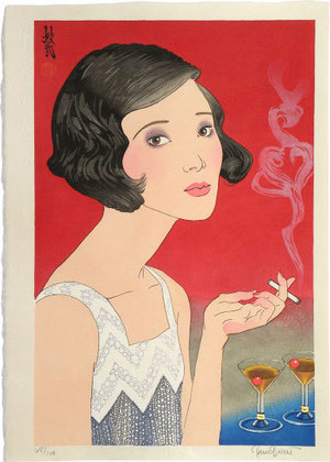 Paul Binnie: Flowers of a Hundred Years: A Modern Girl [of 1920] (Hyakunen no Hana: Senkyuhakunijuunen no Moga) - Scholten Japanese Art