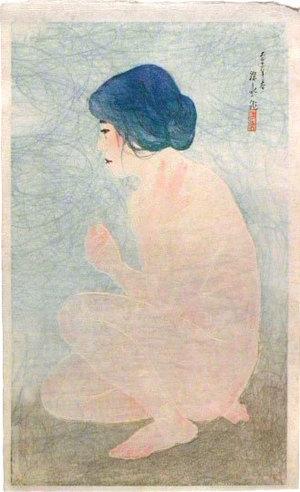 伊東深水: Twelve Images of Modern Beauties: Bathing in Early Summer (Shin bijin junisugata: Shoka no yoku) - Scholten Japanese Art