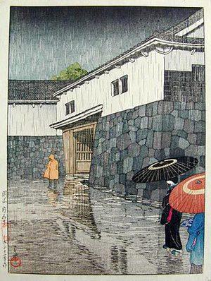 川瀬巴水: Views of Japanese Scenery: Uchiyamashita in Okayama (Nihon fukei senshu: Okayama uchiyamashita) - Scholten Japanese Art