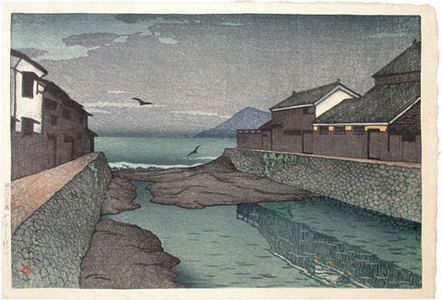 川瀬巴水: Hori River, Obama (Obama Horikawa) - Scholten Japanese Art