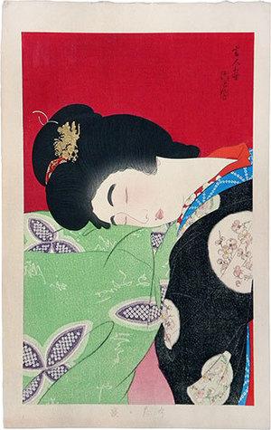 鳥居言人: A Nap (Utatane) - Scholten Japanese Art