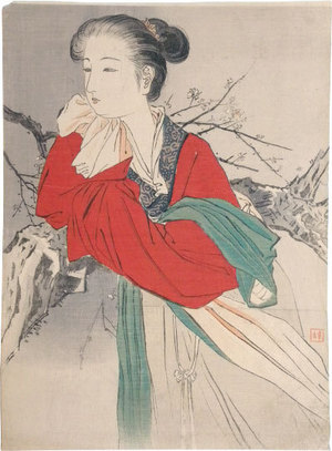 Kajita Hanko: The Hermit in Floating Silk (Rafusen) - Scholten Japanese Art