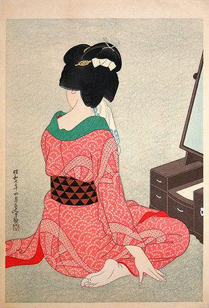 Hirano Hakuho: Before the Mirror (Kagami no mae) - Scholten Japanese Art