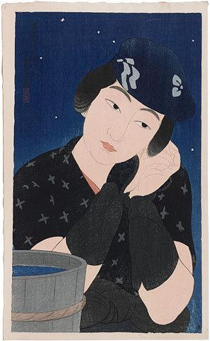 伊東深水: Twelve Images of Modern Beauties: Woman from Oshima Island (Shin bijin junisugata: Shima no Onna) - Scholten Japanese Art