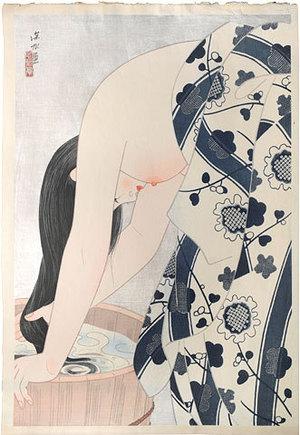 伊東深水: Hair (Kami) - Scholten Japanese Art