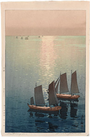 吉田博: The Inland Sea Series: Glittering Sea (lighter palette) (Seto uchi kaishu: Hikaru Umi) - Scholten Japanese Art