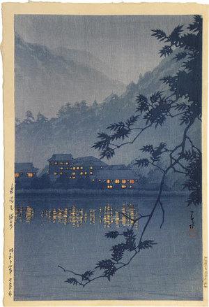川瀬巴水: Yumoto Spa, Nikko (Nikko Yumoto Onsen) - Scholten Japanese Art