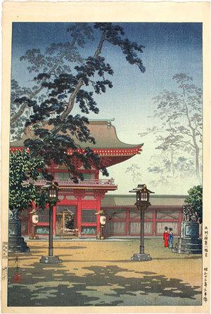 Tsuchiya Koitsu: Hakozaki Hachimangu Temple (Hakozaki Hachimangu) - Scholten Japanese Art