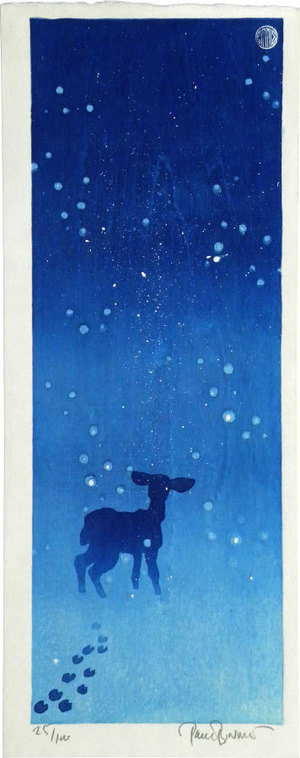 Paul Binnie: Deer in the Snow (Yuki ni Shika) - Scholten Japanese Art