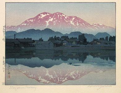 吉田博: At Itoigawa in the Morning (Itoigawa nite: Asa) - Scholten Japanese Art