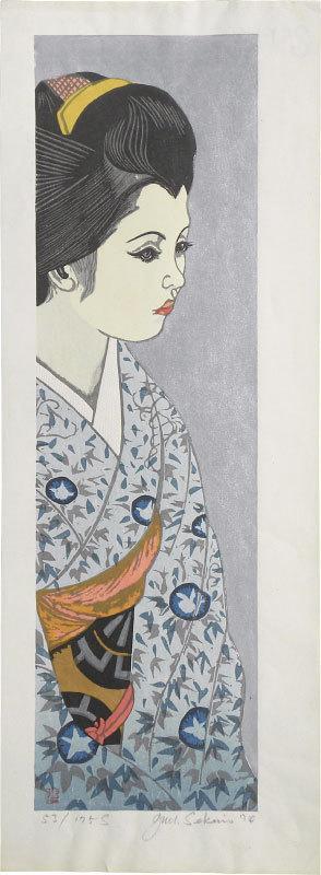 関野準一郎: Twelve Months of Maiko: Morning Glories ((Maiko juni kagetsu: Asagao)) - Scholten Japanese Art