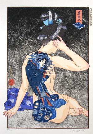 Paul Binnie: A Hundred Shades of Ink of Edo: Eisen's Blue-Printed Pictures (Edo zumi hyaku shoku: Eisen no Aizuri-e) - Scholten Japanese Art