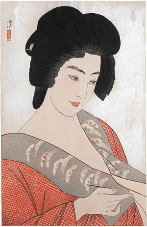 朝井清: The Geisha Ichimaru (Geisha Ichimaru) - Scholten Japanese Art