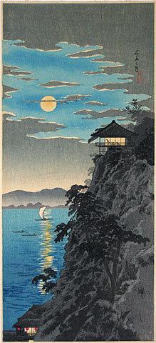 Takahashi Hiroaki: Moon at Ishiyama (Ishiyama no tsuki) - Scholten Japanese Art