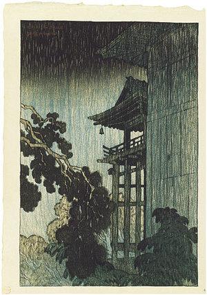 伊東深水: Eight Views of Omi: Miidera (Omi hakkei no uchi: Miidera) - Scholten Japanese Art