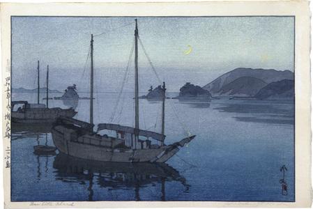 Yoshida Hiroshi: The Inland Sea, Second Series: Three Little Islands (Seto uchi kaishu dai ni: Mitsu kojima) - Scholten Japanese Art