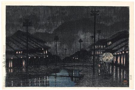 川瀬巴水: Souvenirs of Travel, Third Series: Kinosaki, Tajima (Tabi miyage dai sanshu: Tajima Kinosaki) - Scholten Japanese Art