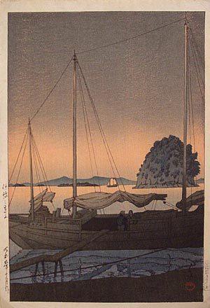川瀬巴水: Hayama in Iyo (Iyo no Hayama) - Scholten Japanese Art