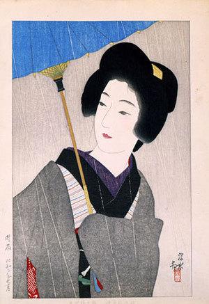 Ito Shinsui: Drizzling Rain (Shigure) - Scholten Japanese Art