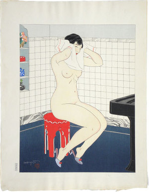 Ishikawa Toraji: Ten Types of Female Nudes: Morning (Rajo jusshu: Asa) - Scholten Japanese Art