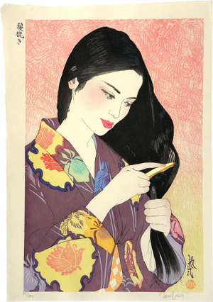 Paul Binnie: Hair Combing (Kamisuki) - Scholten Japanese Art