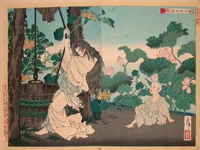 月岡芳年: New Selection of Eastern Brocade Pictures: The Story of Tamiya Botaro (Shinsen axuma nishiki-e: Tamiya Botaro no hanashi) - Scholten Japanese Art