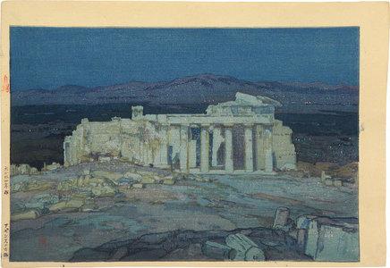 Yoshida Hiroshi: Europe Series: Ruins of Athens (Acropolis- Night) (Oushuu: Azensu no Koseki) - Scholten Japanese Art