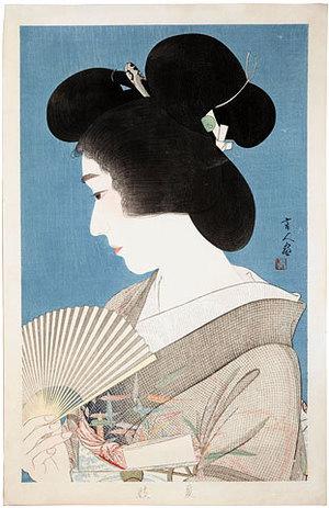 Torii Kotondo: Summer Geisha (Natsuko) - Scholten Japanese Art