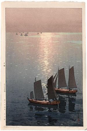 Yoshida Hiroshi: The Inland Sea Series: Glittering Sea (darker palette) (Seto uchi kaishu: Hikaru Umi) - Scholten Japanese Art