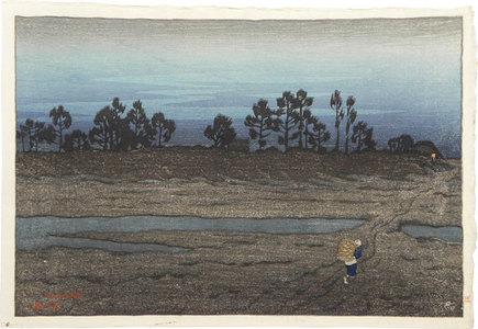 Ito Shinsui: Evening on the river, Tamagawa - Scholten Japanese Art
