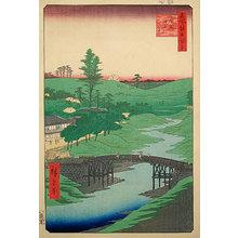 歌川広重: One Hundred Famous Views of Edo: Furu River, Hiroo (Meisho Edo hyakkei: Hiroo, Furukawa) - Scholten Japanese Art