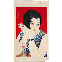 朝井清: Styles of Contemporary Make-up: no. 1, Tipsy (Kindaijisesho no uchi: ichi, Horoyoi) - Scholten Japanese Art