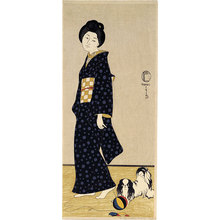 Friedrich Capelari: woman with pekingese - Scholten Japanese Art