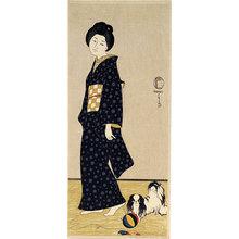 Friedrich Capelari: woman with pekingese - Scholten Japanese Art