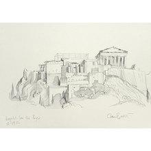 Paul Binnie: Acropolis original pencil sketch (on site) - Scholten Japanese Art