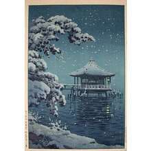 風光礼讃: Snow at the Ukimido, Katada - Scholten Japanese Art