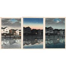 川瀬巴水: Souvenirs of Travel, Third Series: Matsue in Izumo (Tabi miyage dai sanshu: Izumo Matsue) - Scholten Japanese Art