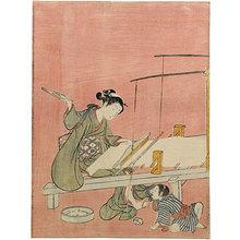 Suzuki Harunobu: Weaving - Scholten Japanese Art