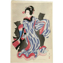 Natori Shunsen: Collection of Shunsen Portraits: Nakamura Jakuemon as Oshichi (Shunsen Nigao-e Shu: Nakamura Jakuemon) - Scholten Japanese Art