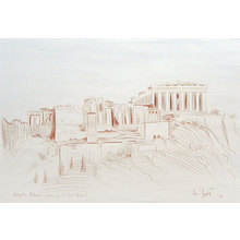Paul Binnie: Acropolis original conte drawing - Scholten Japanese Art