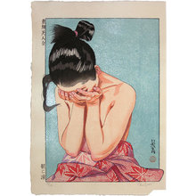 Paul Binnie: A Collection of Eastern Brocade Beauties: Morning Tears (Azuma nishiki bijin awase: Asa ni Namida) - Scholten Japanese Art