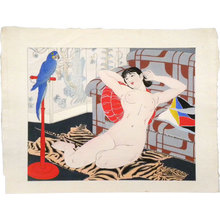 石川寅治: Ten Types of Female Nudes: Blue Parrot (Rajo jusshu: Buryu inko) - Scholten Japanese Art