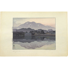 吉田博: Itoigawa in the Evening (Itoigawa nite: Yoru) - Scholten Japanese Art
