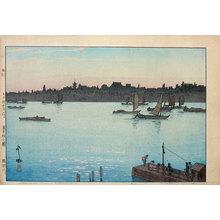 吉田博: Twelve Scenes of Tokyo: Sumida River- Afternoon (Tokyo juni dai: (Sumidagawa)) - Scholten Japanese Art